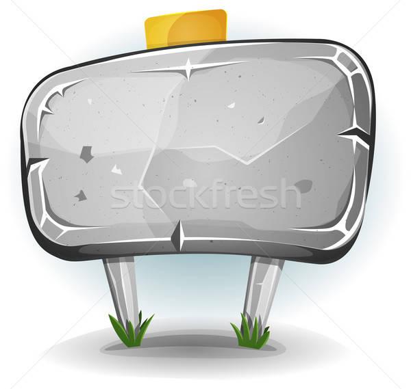 Piedra panel ui juego ilustración Cartoon Foto stock © benchart