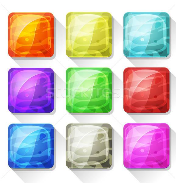 иконки Кнопки мобильных приложение игры ui Сток-фото © benchart