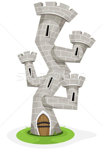фантазий замок башни иллюстрация смешные Cartoon Сток-фото © benchart