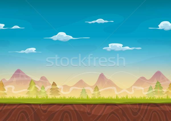 Dağlar manzara ui oyun örnek Stok fotoğraf © benchart
