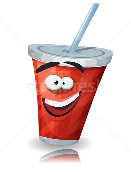 Кубок соды характер соломы иллюстрация смешные Сток-фото © benchart