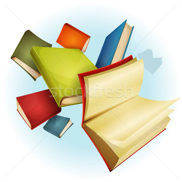 Books Collection Background Stock photo © benchart