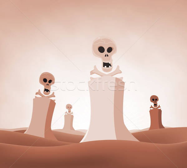 Nuclear Death Landscape Stock photo © benchart