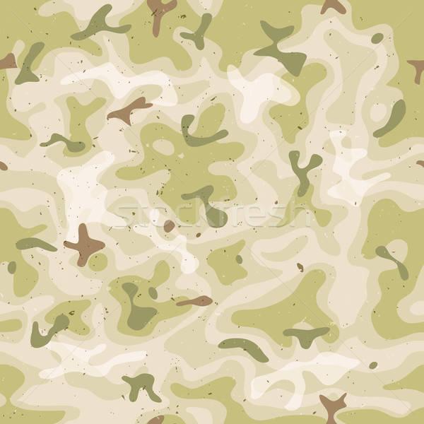 Végtelenített katonaság álca szett illusztráció grunge Stock fotó © benchart