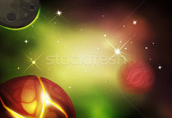 Scifi espace ui jeu illustration belle Photo stock © benchart