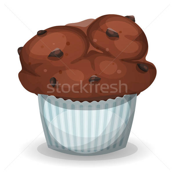 Classic American Muffin With Chocolate Chips Stock photo © benchart