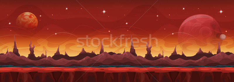 Fantasy large scifi ui jeu illustration Photo stock © benchart