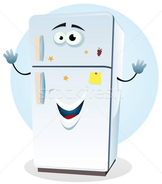 Buzdolabı karakter örnek karikatür mutlu gıda Stok fotoğraf © benchart