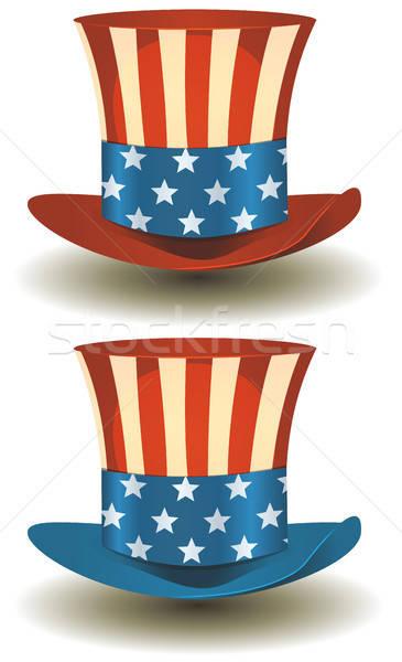 Tío superior sombrero americano vacaciones ilustración Foto stock © benchart