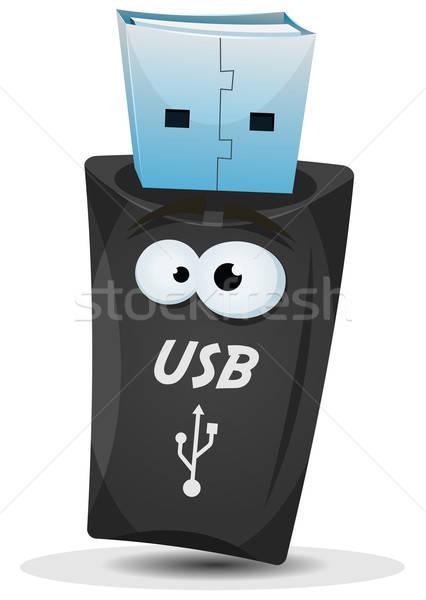 Pocket Usb Key Character Stock photo © benchart