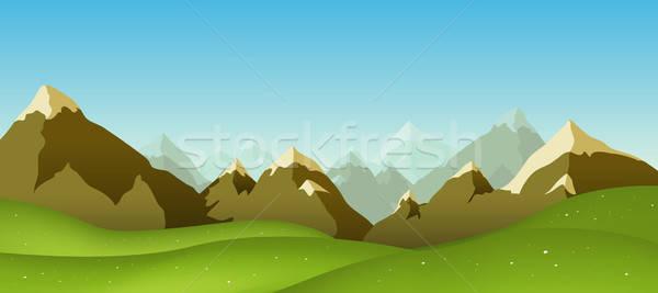 Mountain Range Stock photo © benchart