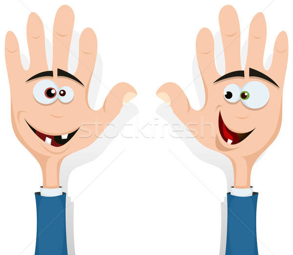Right And Left Hands Up! Stock photo © benchart