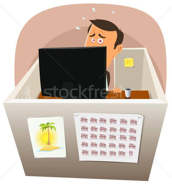 Depressive Worker At Work Stock photo © benchart