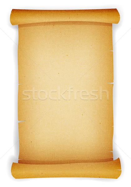 Starych pergamin przejdź ilustracja vintage Zdjęcia stock © benchart
