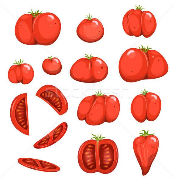 Red Tomatoes Set Stock photo © benchart