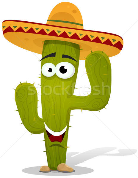 Cartoon mexican cactus personnage illustration drôle Photo stock © benchart