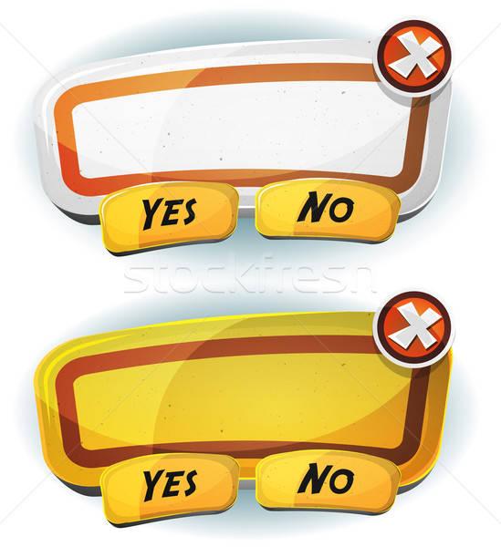 Placa sinalizadora acordo painel ui jogo ilustração Foto stock © benchart