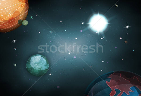 Scifi Space Background For Ui Game Stock photo © benchart