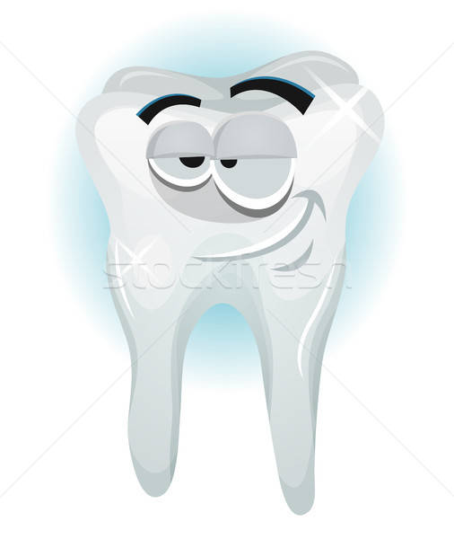 Happy Tooth Character Smiling Stock photo © benchart