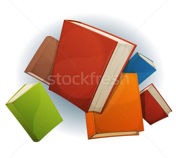 Books Stack Flying Stock photo © benchart