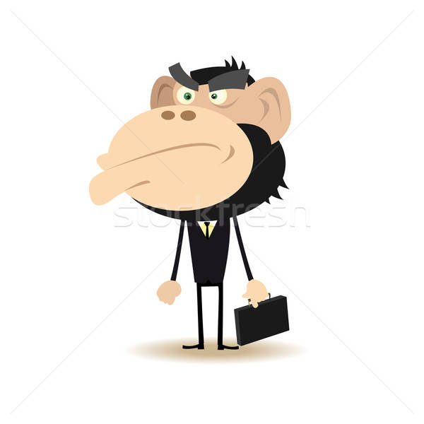 Gorilla Businessman Stock photo © benchart