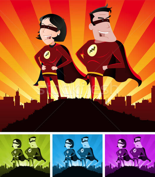 Super Heroes Male And Female Stock photo © benchart