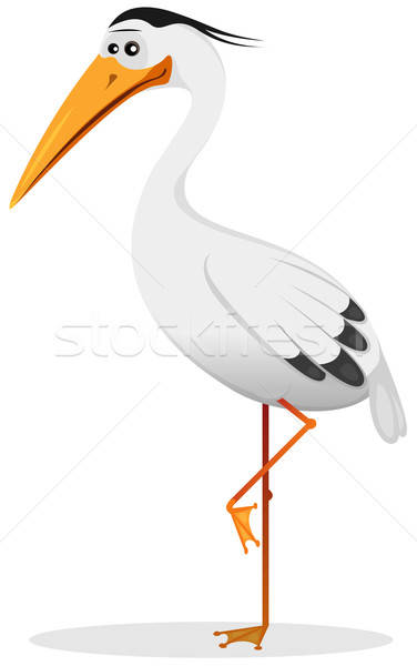 Cartoon Heron Bird Stock photo © benchart