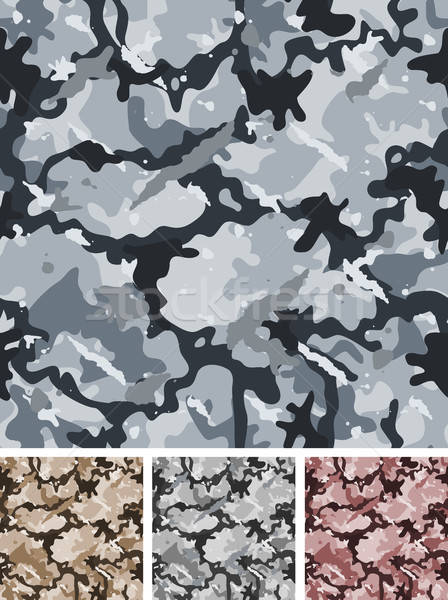 Seamless Complex Military Night Camouflage Stock photo © benchart