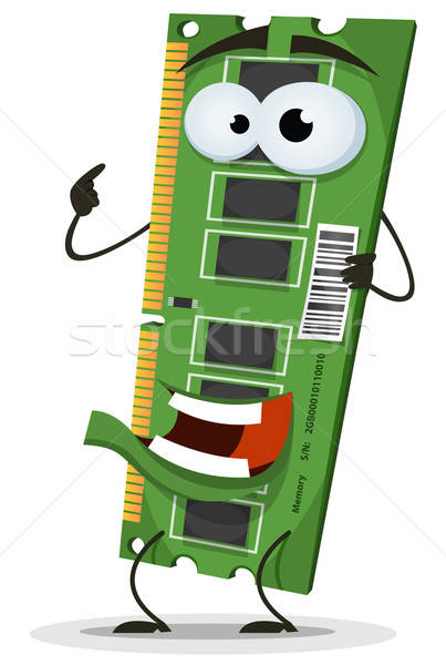 RAM Memory Card Character Stock photo © benchart