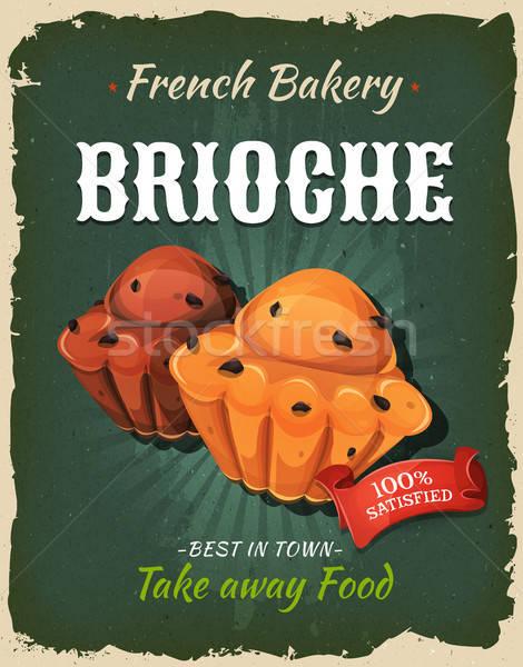 Retro Brioche Poster Stock photo © benchart