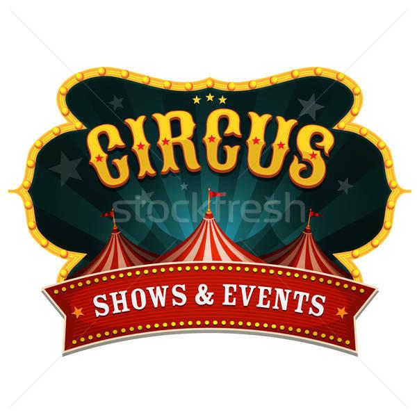 Retro Circus Banner Stock photo © benchart