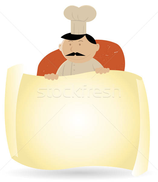 Chef Cook Banner Menu Background Stock photo © benchart