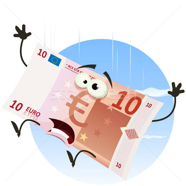 Euro Bill Character Falling Stock photo © benchart