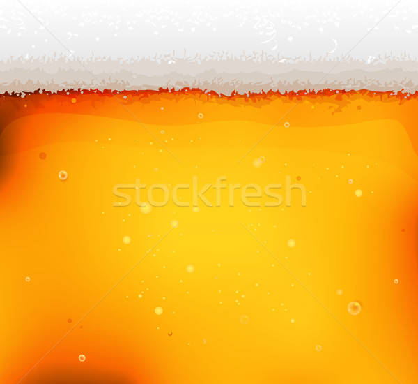 Beer Texture Background With Froth And Bubbles Stock photo © benchart
