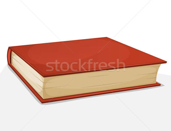 Red Book Isolated On White Stock photo © benchart