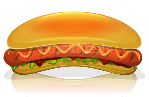 Hot Dog Burger Icon Stock photo © benchart