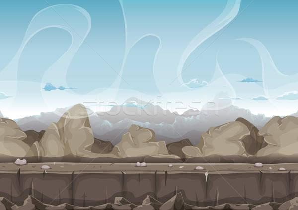 シームレス 石 岩 砂漠 風景 ui ストックフォト © benchart
