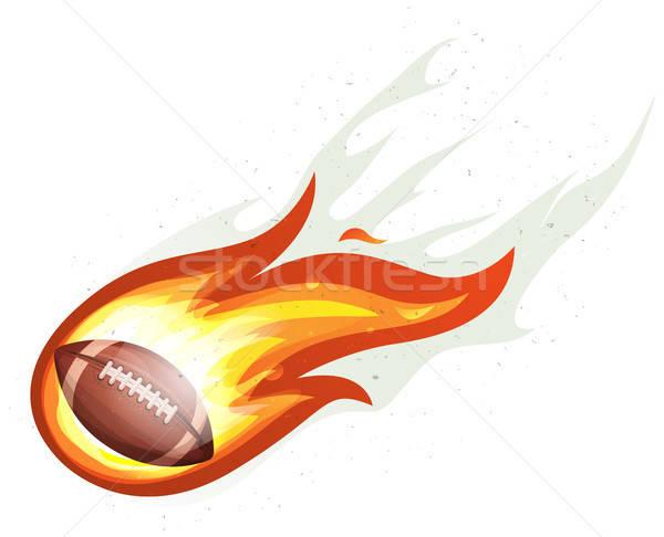 アメリカン サッカー ロケット ボール 燃焼 実例 ストックフォト © benchart