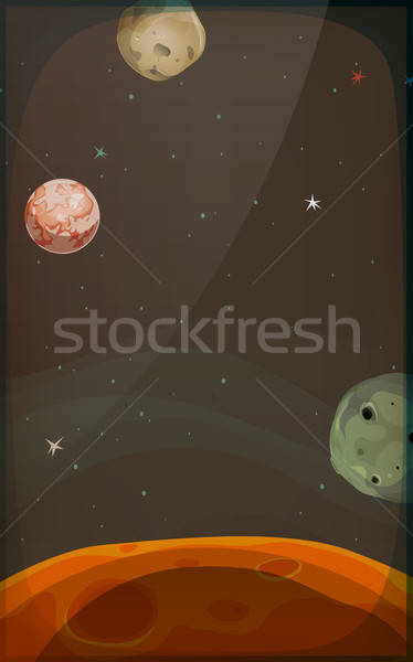 Space Background With Planets And Stars For Mobile Stock photo © benchart