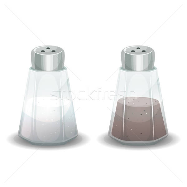 Salt And Pepper Spices Shaker Stock photo © benchart