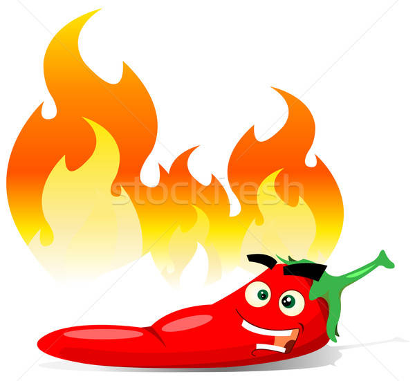 Cartoon Red Hot Chili Pepper Stock photo © benchart