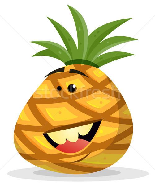 Cartoon Happy Pineapple Character Stock photo © benchart