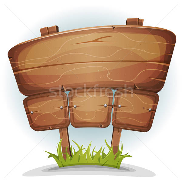 Spring Country Wood Sign Stock photo © benchart