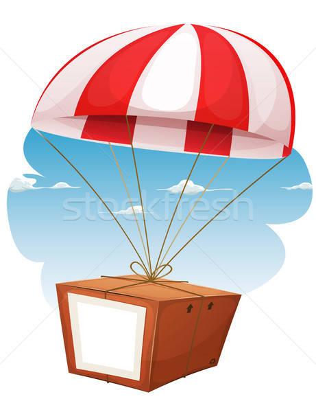 Carton expédition avion illustration cartoon parachute Photo stock © benchart
