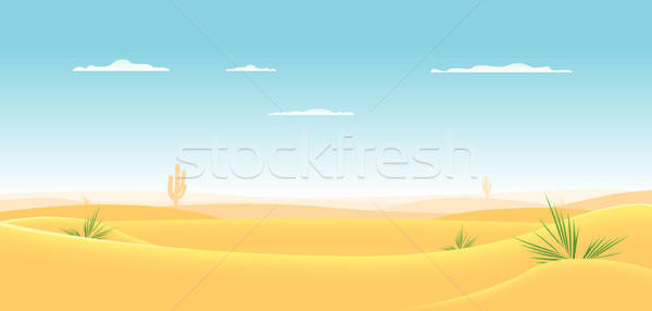 Diep westerse woestijn illustratie cartoon landschap Stockfoto © benchart