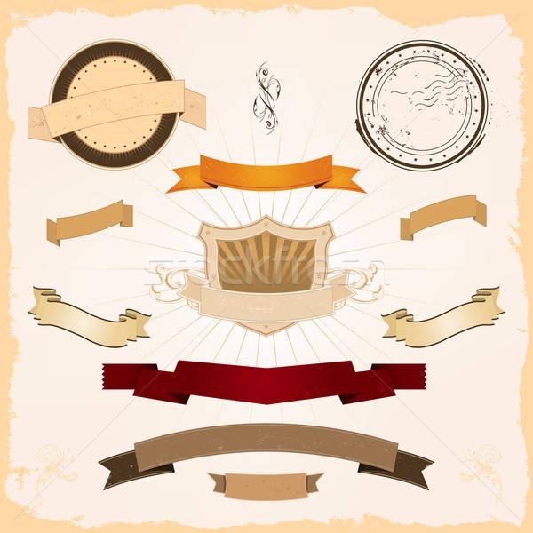 Grafische banners ingesteld illustratie collectie ontwerp Stockfoto © benchart