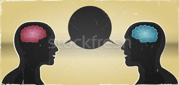 Grunge Man And Woman Communication Background Stock photo © benchart