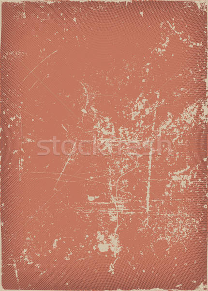 Vintage And Grunge Red Scratched Background Stock photo © benchart