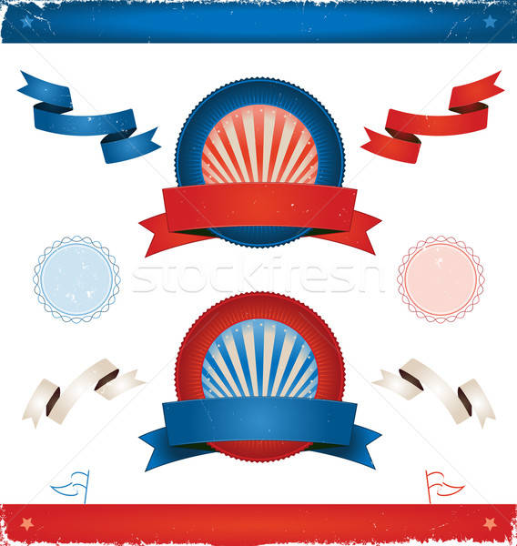 Elections In USA - Ribbons And Banners Stock photo © benchart