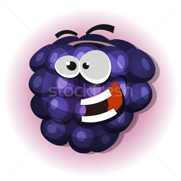 Funny Blackberry Character For Jelly Label Stock photo © benchart